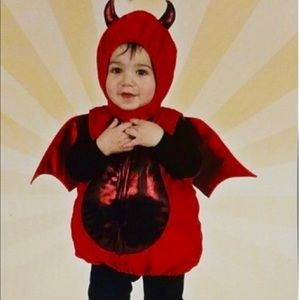 "12 Month Y/O Puffy ""Little Devil"" Costume"